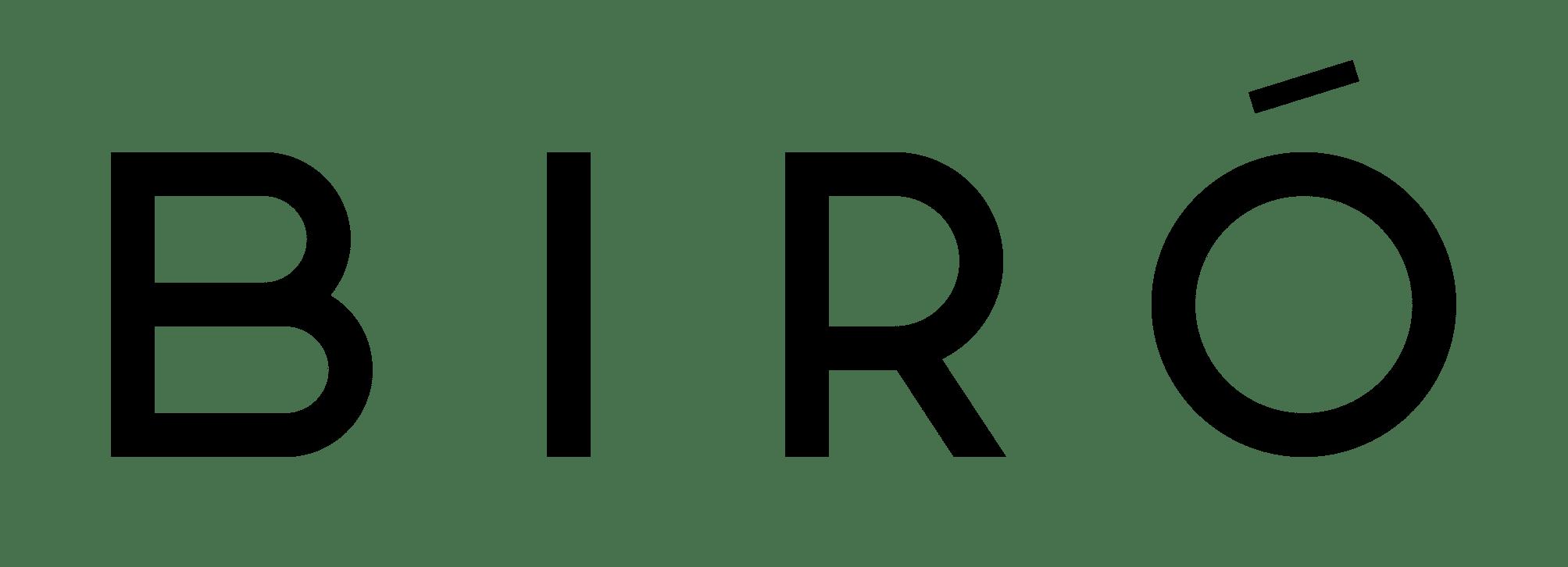 BIRÓ – Logo schwarz